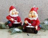 Zwerg Weihnachtskerze - 12cm