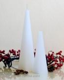 Pyramidenkerze Rustikal 16cm - weiß