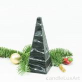 Pyramidenlkerze Tropfendesign - 15cm - schwarz weis