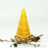 Pyramidenlkerze Tropfendesign - 15cm - honig weis