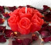 Rosenstrauß 10cm in 3 Farben rot weiß rosa