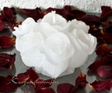Rosenstrauß 10cm weiß