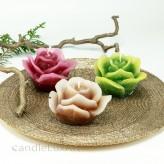 Rosenkerze Rosenblüte 2 farbig in 3 Farben