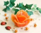 Rosenkerze Rosenblüte orange