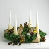 4 Tafelkerzen Adventskerzen - creme Weiß 25cm