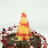 Pyramidenlkerze Stern Tropfendesign - 15cm vanille rot