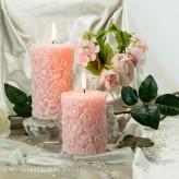 Duftkerze Rose 8x10 und 8x14cm Rosa mit Rosenduft