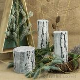 Kerzen Baumstumpf Christmas 3 Varianten 13-26cm