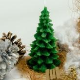 Weihnachtskerze Tanne Grün 13cm