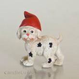 Polyresin Figuren Hund mit Mütze - 6cm