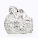 Trauer Engel auf Stein Wir vermissen Dich 12cm