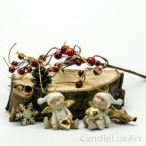 1 Paar Weihnachtsengel Zipfelmütze Gold 5cm