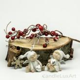 1 Paar Weihnachtsengel Zipfelmütze glitzer Silber 5cm