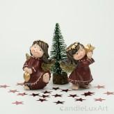 Engelpaar Winter Weihnachten bordo Gold